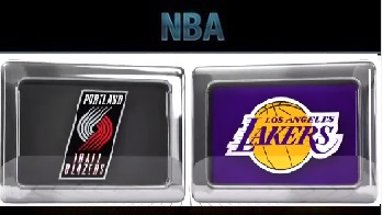 Los Angeles Lakers vs Portland Trail Blazers ,November 22 2015