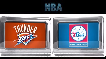 Oklahoma City Thunder vs Philadelphia 76ers Friday, November 13 2015
