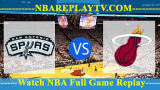 Game 1: Miami Heat vs San Antonio Spurs – June 5, 2014