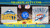 Oklahoma City Thunder vs Denver Nuggets – DEC-14-2018