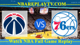 Philadelphia 76ers vs Washington Wizards 18 -10- 2019
