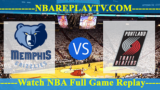 Memphis Grizzlies vs Portland Trail Blazers – APR-03-2019