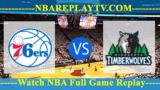 Minnesota Timberwolves vs Philadelphia 76ers – JAN-15-2019