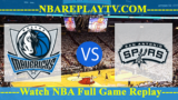 Dallas Mavericks vs San Antonio Spurs 18 -11- 2019