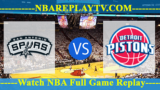 San Antonio Spurs vs Detroit Pistons – JAN-07-2019