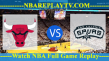 Chicago Bulls vs San Antonio Spurs – Nov 26, 2018