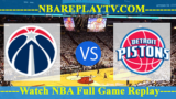 Detroit Pistons vs Washington Wizards – JAN-21-2019