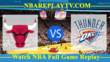 Oklahoma City Thunder vs Chicago Bulls – DEC-07-2018