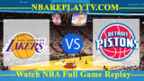 Los Angeles Lakers vs Detroit Pistons – July 15, 2018