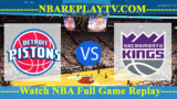 Detroit Pistons vs Sacramento Kings – JAN-10-2019