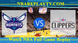 Charlotte Hornets vs LA Clippers – JAN-08-2019