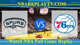 Philadelphia 76ers vs San Antonio Spurs – DEC-17-2018
